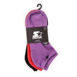 Chaussettes lot de 3 socquettes coton doux stretch jacquard intarsia Femme STARTER marque pas cher prix dégriffés destockage