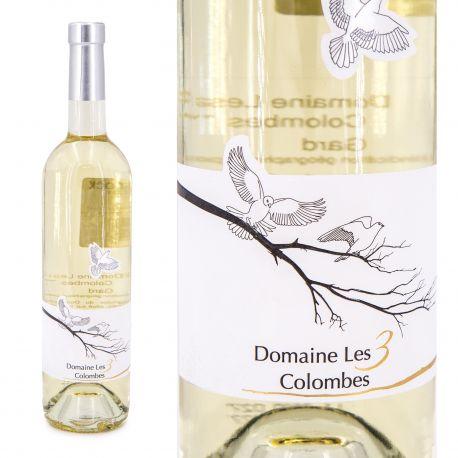 Vin blanc IGP Gard 75CL 2017 Domaine des 3 Colombes marque pas cher prix dégriffés destockage
