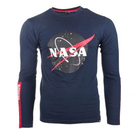 Tee shirt ml gns2016m taille s-xl Homme NASA marque pas cher prix dégriffés destockage
