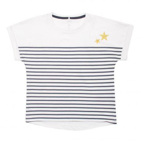Tee shirt manches courtes à rayures coton Enfant NAME IT marque pas cher prix dégriffés destockage