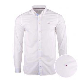 Chemise manches longues coton doux organique Oxford col boutonné tag brodé Homme TOMMY HILFIGER