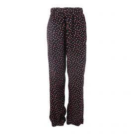 Pantalon fluide taille élastique imprimé fleurs Femme PIECES marque pas cher prix dégriffés destockage