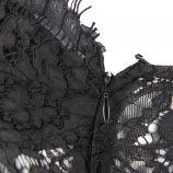 Body en dentelle à fines bretelles zip côté Femme PIECES marque pas cher prix dégriffés destockage