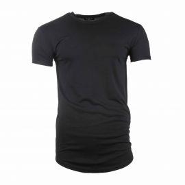 Tee shirt basic noir manches courtes col rond Homme SELECTED marque pas cher prix dégriffés destockage