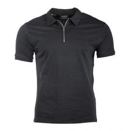 Polo manches courtes coton col zippé Homme SELECTED marque pas cher prix dégriffés destockage
