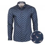 Chemise imprimé animal regular fit manches longues Homme SELECTED