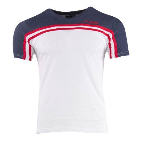 Tee shirt col v tidjani Homme TED LAPIDUS marque pas cher prix dégriffés destockage