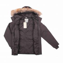 Parka capuche fourrure amovible doublé plumes d'oie poches rabat zip Enfant BEST MOUNTAIN marque pas cher prix dégriffés dest...