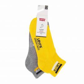 Lot de 2 paires de chaussettes yellow/grey t39 a 46 Homme LEVI'S marque pas cher prix dégriffés destockage