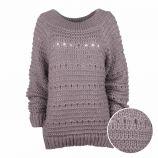 Pull manches longues laine bord côte Femme CARE OF YOU marque pas cher prix dégriffés destockage