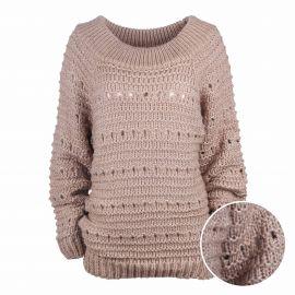 Pull manches longues mohair laine bord côte Femme CARE OF YOU marque pas cher prix dégriffés destockage