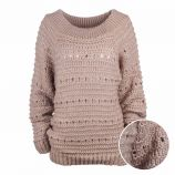 Pull manches longues mohair laine bord côte Femme CARE OF YOU
