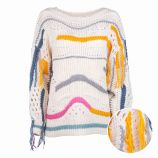 Pull manches longues laine col bateau Femme CARE OF YOU