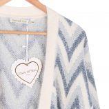 Gilet long manches longues laine métallisé Femme CARE OF YOU marque pas cher prix dégriffés destockage