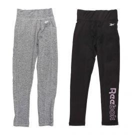 Lot de 2 leggings stretch taille haute floqué Enfant REEBOK