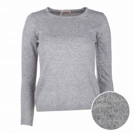 Pull manches longues rond cachemire laine Femme CASHMERE COMPANY marque pas cher prix dégriffés destockage