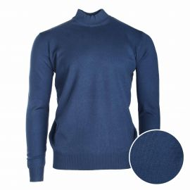 Pull col cheminee coudiere 30% cachemire 845 Homme REAL CASHMERE