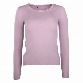 Pull manches longues rond laine cachemire Femme REAL CASHMERE