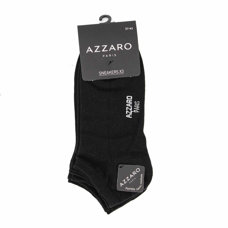 Soquette lot de 3 08194 t37/41 Femme AZZARO marque pas cher prix dégriffés destockage