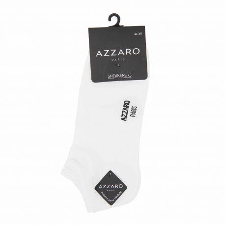 Chaussettes socquettes lot de 3 08187 t41/45 Homme AZZARO marque pas cher prix dégriffés destockage