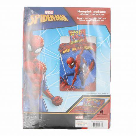 Housse de couette 140x200 taie oreiller 63x63 spider man MARVEL marque pas cher prix dégriffés destockage