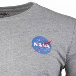 Tee shirt mc col rond basic ball black white Homme NASA marque pas cher prix dégriffés destockage