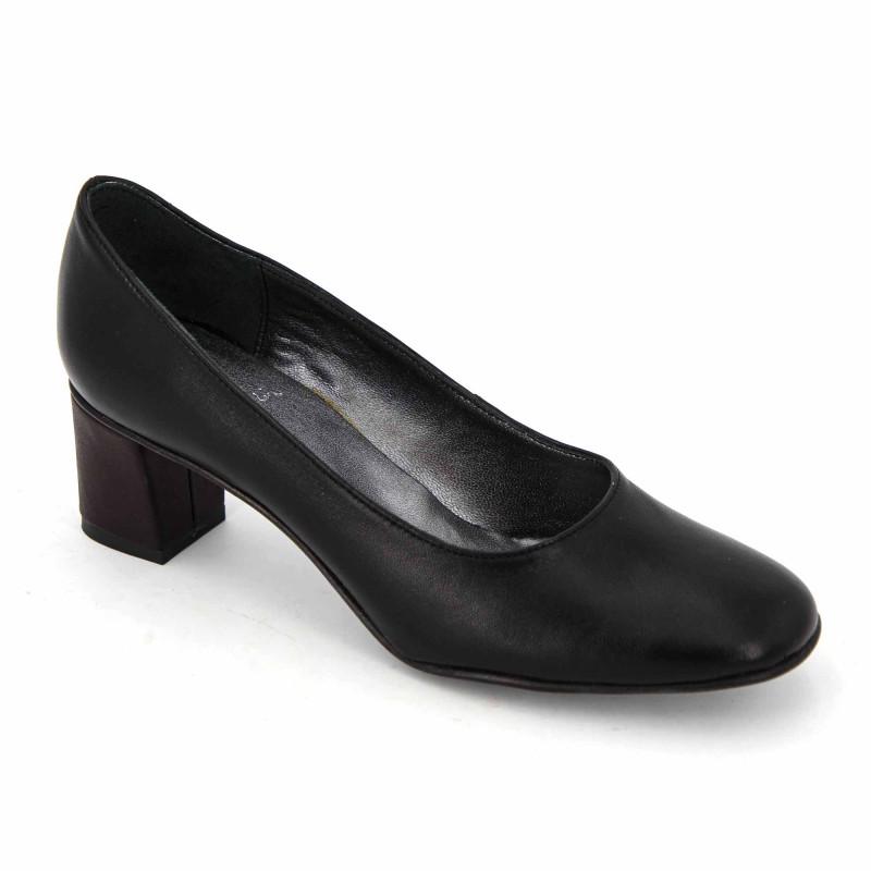 Escarpins cuir noir t35-t41 cinzia Femme PIERRE CARDIN marque pas cher prix dégriffés destockage