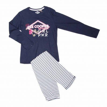 Pyjama jersey 6-14 ans 449015 Fille LEE COOPER marque pas cher prix dégriffés destockage