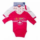 Lot 2 Bodies manches longues Coton bébé LEE COOPER