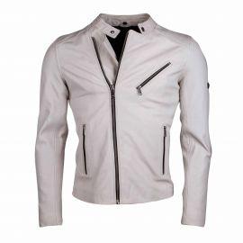 Blouson cuir jason blanc Homme L.A.D.C. marque pas cher prix dégriffés destockage