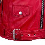 Blouson cuir diane biber rouge Femme L.A.D.C. marque pas cher prix dégriffés destockage