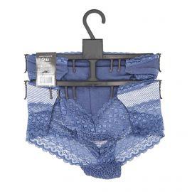 Lot de 2 shorties 13890284 bleu Femme INFINITIF marque pas cher prix dégriffés destockage