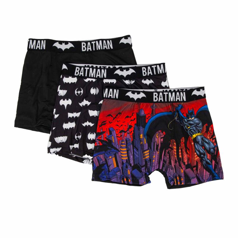 Lot de 3 boxers microfibres noir Homme DC COMICS marque pas cher prix dégriffés destockage