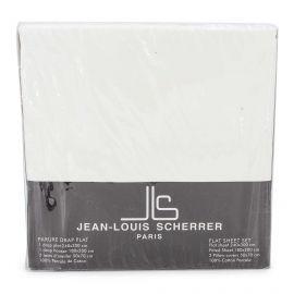 Parure percale: drat 240x300+drap housse 180x200+taie d'oreiller Mixte JEAN-LOUIS SCHERRER marque pas cher prix dégriffés des...