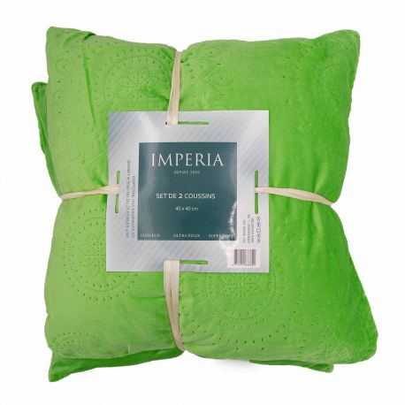 Pack 2 coussins kindo 40x40 IMPERIA