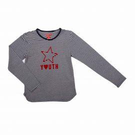 Tee-shirt ml marine 924-100aa fille du 8 au 16 ans Enfant LOSAN marque pas cher prix dégriffés destockage