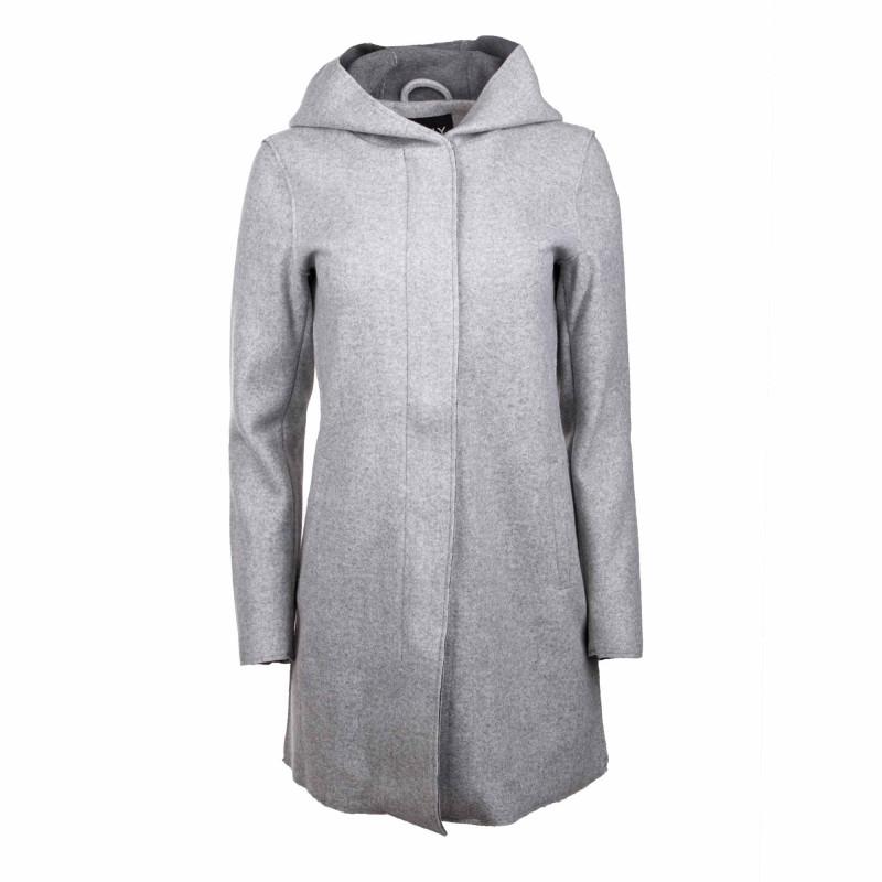 Manteau a capuche ml gris 15199197 Femme ONLY marque pas cher prix dégriffés destockage