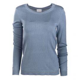 Pull fin ml bleu clair vibolonia 14056011 Femme VILA