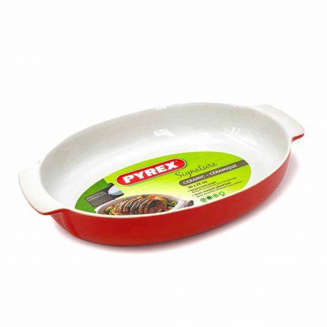 Plat ovale 35*23cm 3.4 litres rouge 6144 Mixte PYREX
