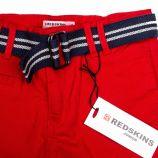 Bermuda en toile ceinture brd185014 de 8 a 16 ans Enfant REDSKINS marque pas cher prix dégriffés destockage