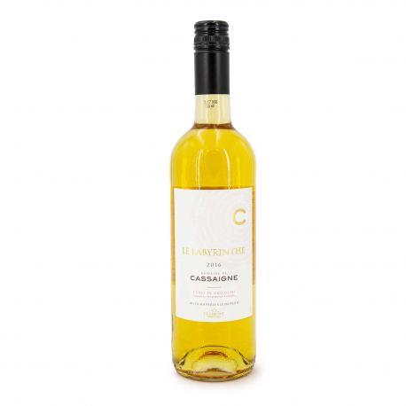 """Vin blanc IGP COTES DE GASCOGNE2016 """"DOMAINE CASSAIGNE LE LABYRINTHE"""" 75CL 11%"""