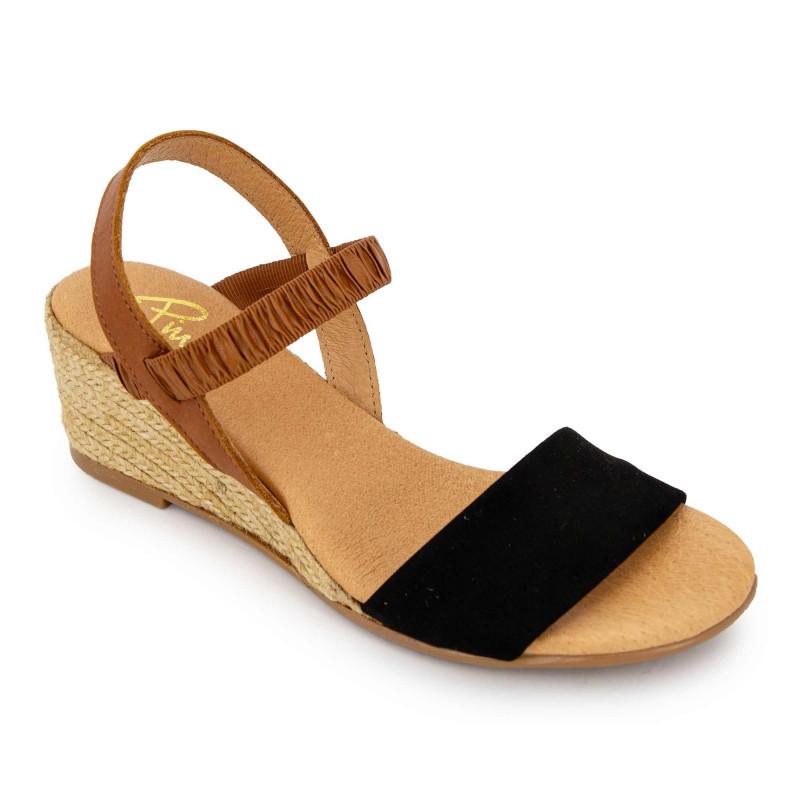 Sandales ante negro 515/5 t36/41 Femme PINAZ
