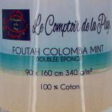Fouta eponge 90x160 cm Mixte COMPTOIR DE LA PLAGE