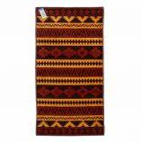 Serviette de plage marron aztèque coton 86x160cm COMPTOIR DE LA PLAGE