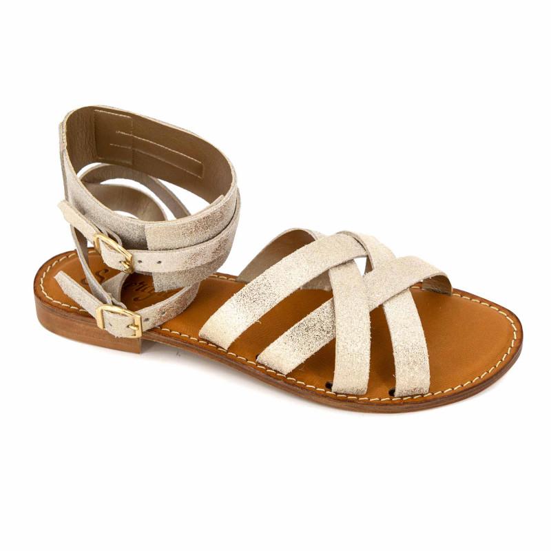 Sandale camoscio platino emma t 36/41 Femme SEMERDJIAN