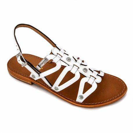 Sandales blanc c23223hampi t36/41 Femme LES TROPEZIENNES PAR M.BELARBI marque pas cher prix dégriffés destockage
