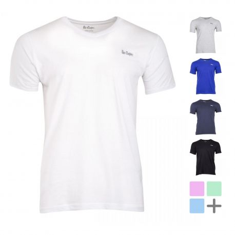 Tee shirt col V manches courtes ilenzo Homme LEE COOPER
