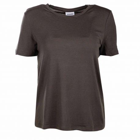 Tee shirt mc kaki 10195723 Femme VERO MODA marque pas cher prix dégriffés destockage