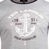 Tee shirt col rond ocean spirit thes Homme TED LAPIDUS marque pas cher prix dégriffés destockage
