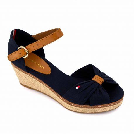 Sandales compensees blue fw0fw00906 t36/42 Femme TOMMY HILFIGER marque pas cher prix dégriffés destockage
